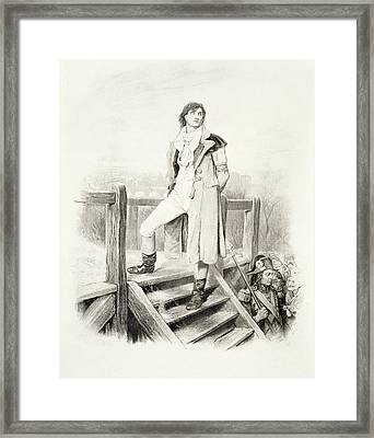 Sydney Carton, From Charles Dickens A Framed Print by Hablot Knight Browne