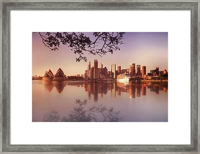 Sydney City Framed Print by Saenman Photography