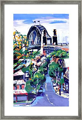 Sydney Daylight Framed Print by Shirley  Peters
