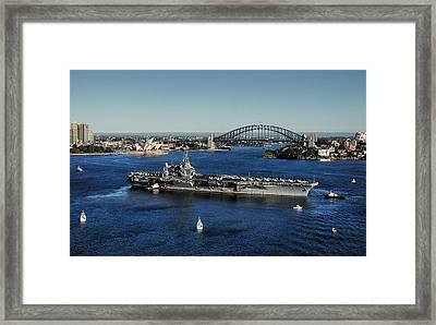 Sydney Harbor Framed Print by John Swartz