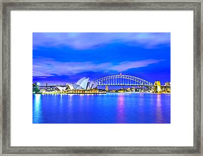 Sydney Harbour Blues Framed Print by Az Jackson
