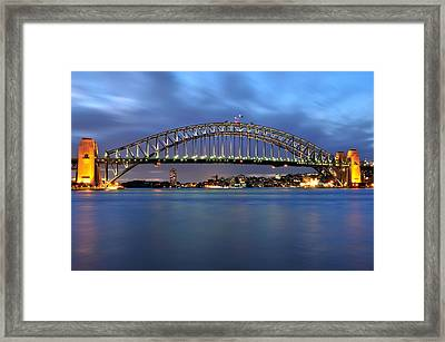 Sydney Harbour Bridge At Twilight Framed Print
