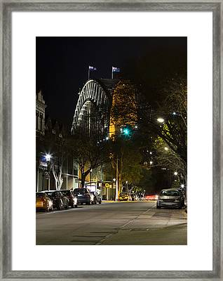 Sydney Harbour Bridge From Fort Street Framed Print by Nicholas Blackwell
