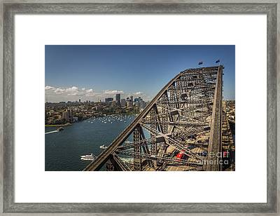 Sydney Harbour Bridge Framed Print by Jola Martysz