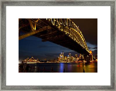 Framed Print featuring the photograph Sydney Harbour Bridge by Miroslava Jurcik
