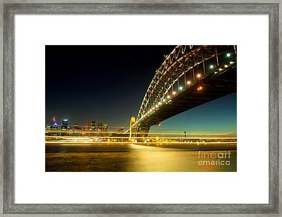 Framed Print featuring the photograph Sydney Harbour Bridge by Yew Kwang