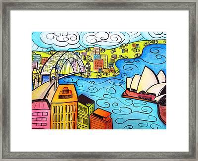 Sydney Harbour  Framed Print by Oiyee At Oystudio