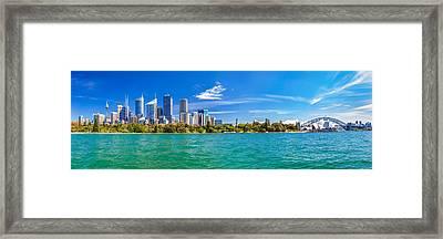 Sydney Harbour Skyline 3 Framed Print