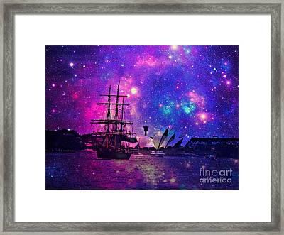 Sydney Harbour Through Time And Space Framed Print
