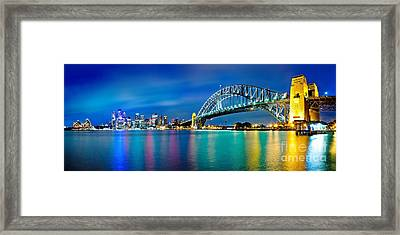 Sydney Icons Framed Print by Az Jackson