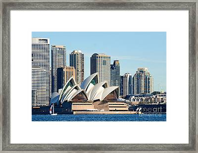 Sydney Opera House And Sydney Harbor - A Classic View Framed Print