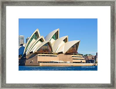 Sydney Opera House And Sydney Harbour Framed Print
