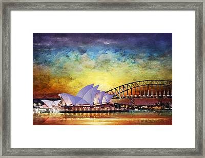 Sydney Opera House Framed Print by Catf