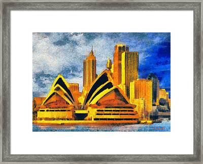Sydney Opera House Framed Print by George Rossidis