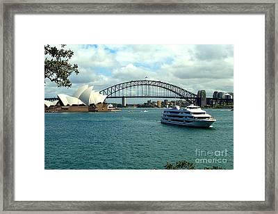 Sydney Opera House Framed Print by John Potts