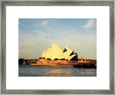 Sydney Opera House Painting Framed Print by Pixel Chimp