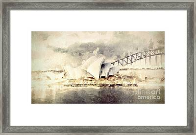 Sydney Opera House Framed Print by Shanina Conway