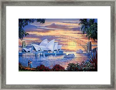 Sydney Opera House Framed Print by Steve Crisp
