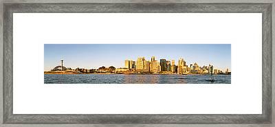 Sydney Panorama From Balmain Peninsula Framed Print