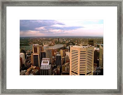 Sydney Skyline Framed Print by John Potts