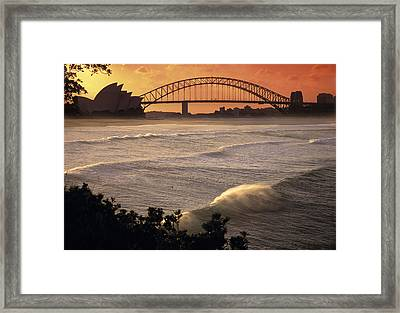Sydney Surf Time Framed Print by Sean Davey