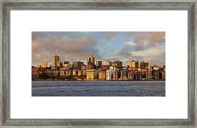 Sydney Town Houses Framed Print by DerekTXFactor Creative