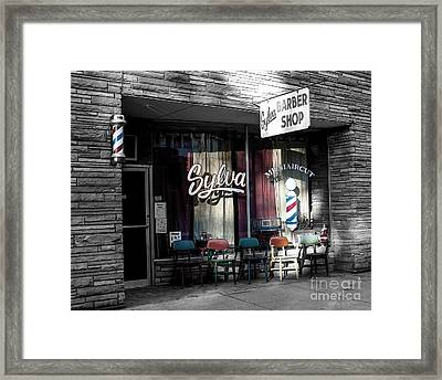 Sylva Barber Shop - 2008 Framed Print