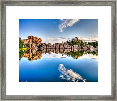 Sylvan Lake Framed Print by David Wynia
