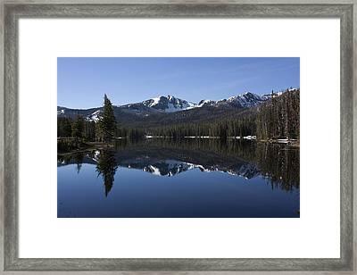 Sylvan Lake Reflection - Yellowstone Framed Print