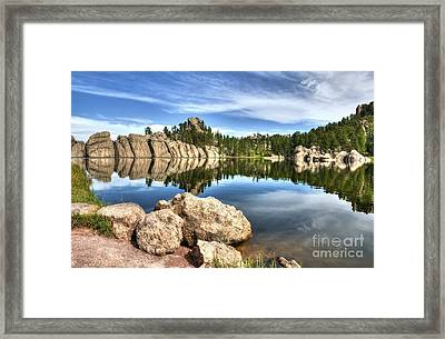 Sylvan Lake Reflections 2 Framed Print