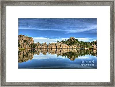 Sylvan Lake Reflections Framed Print