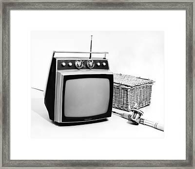 Sylvania Portable Tv Framed Print
