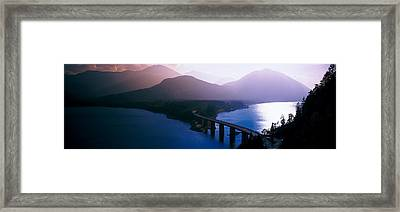 Sylvenstein Lake Bavaria Germany Framed Print by Panoramic Images