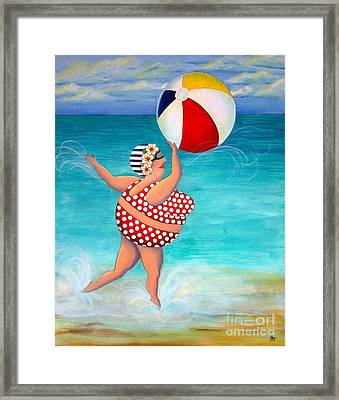 Sylvia At The Beach Framed Print