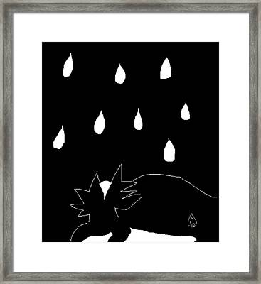 Framed Print featuring the painting Sylvia In The Rain by Anita Dale Livaditis