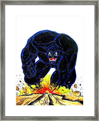 Symbiote Guy Framed Print by Justin Moore