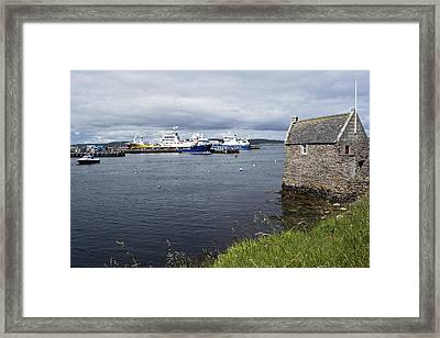 Symbister Harbour Framed Print