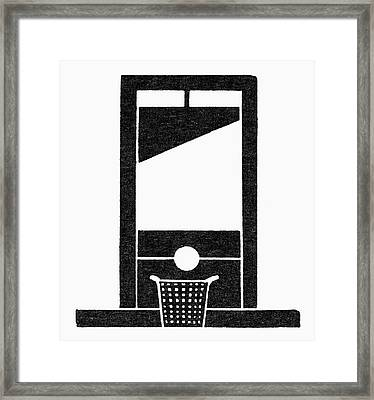 Symbol Guillotine Framed Print