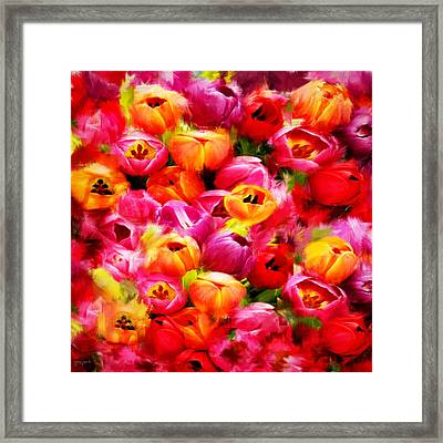Symbol Of Love Framed Print by Lourry Legarde