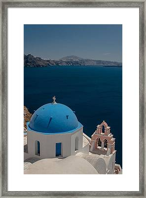 Symbol Of Santorini Framed Print