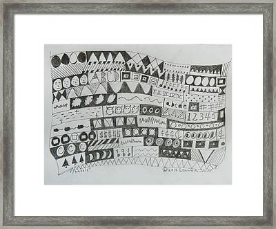 Symbols Framed Print by Lenore Senior