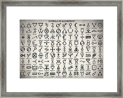 Symbols Of Alchemists Framed Print by Taylan Apukovska