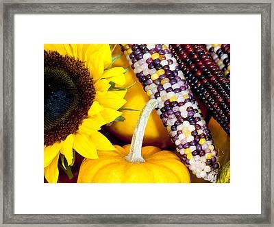 Symbols Of Autumn Framed Print by Rae Tucker