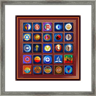 Symbols Of Diversity Framed Print