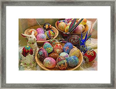 Symbols Of Easter- Spiritual And Secular Framed Print by Gary Holmes