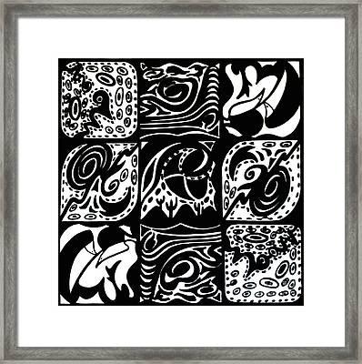 Symmetrical Illusion Abstract Framed Print by Mukta Gupta