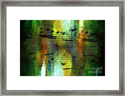 Framed Print featuring the digital art Forest Figures by Lon Chaffin