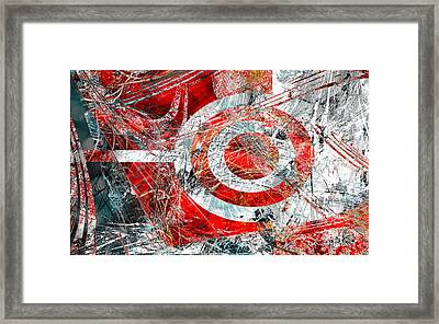 Framed Print featuring the digital art Symmetry by Fine Art By Andrew David