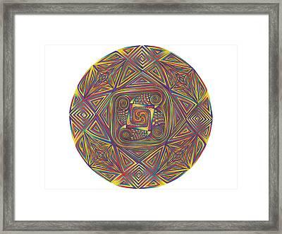 Symmetry Four Framed Print by diNo
