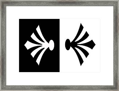 Symmetry In Black And White Digital Painting Framed Print